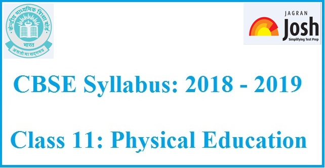 CBSE Syllabus For Class 11 Physical Education Academic Session 2018