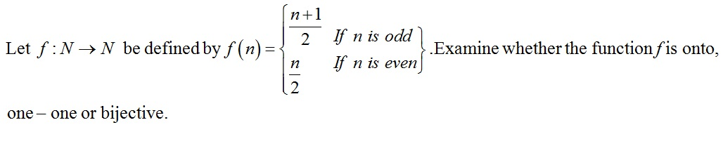 Question 11 of CBSE Class 12 Maths Practice Paper based on Functions