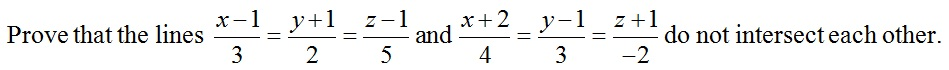 CBSE Class 12 Maths Practice Paper, Question based on Lines