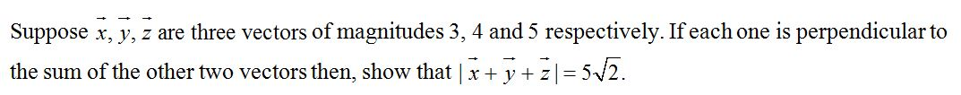 CBSE Class 12 Maths Practice Paper, Question based on Vectors