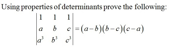 Question based on Determinant