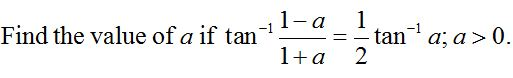 Question 5 of CBSE Class 12 Practice Paper based on Inverse Trigonometric Functions