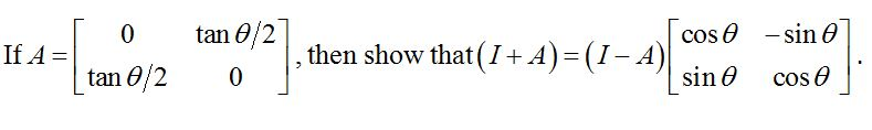 Question 6 of CBSE Class 12 Practice Paper based on Matrix
