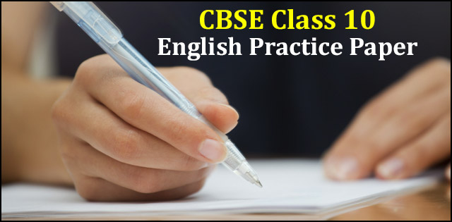 CBSE Class 10 English (Communicative) Practice Paper 2018