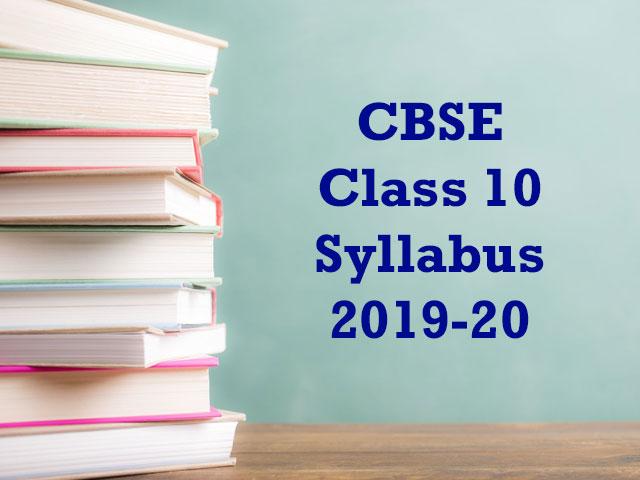 CBSE Class 10 Syllabus 2019-20 PDF