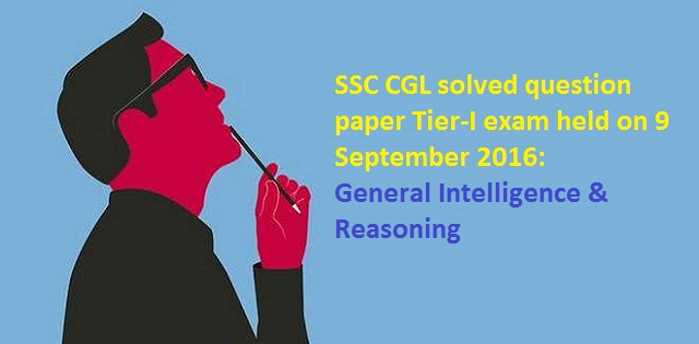 SSC CGL solved paper
