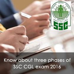 Three phases of SSC CGL exam 2016