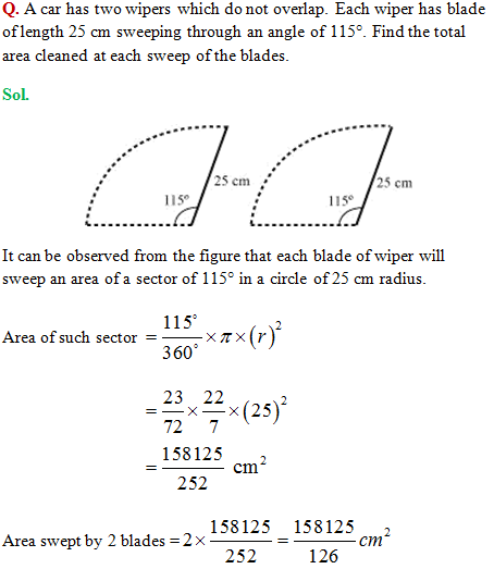 Cbse class 10 mathematics area related to circles to get the complete ncert solution click here ccuart Images