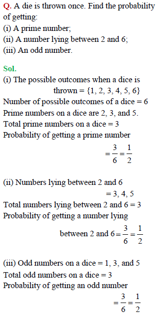 probability class 10 ncert solutions