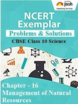 Class 10 Science NCERT Exemplar, Management of Natural Resources Class 10 NCERT, Class 10 Science Chapter 16 NCERT Exemplar