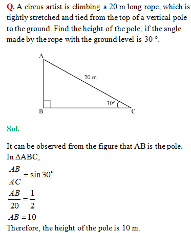 NCERT Solutions: Class 10 Some Applications of Trigonometry
