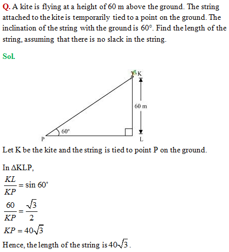 CBSE Class 10 Mathematics | Some Applications of Trigonometry