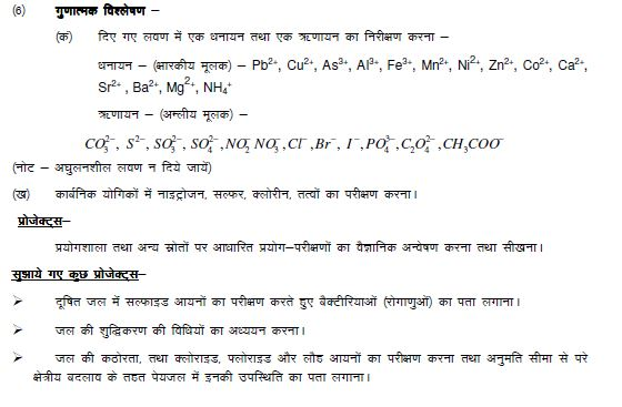 chemistry revised syllabus