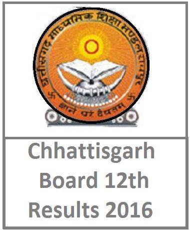 Chhattisgarh Board CGBSE 12th Result 2016