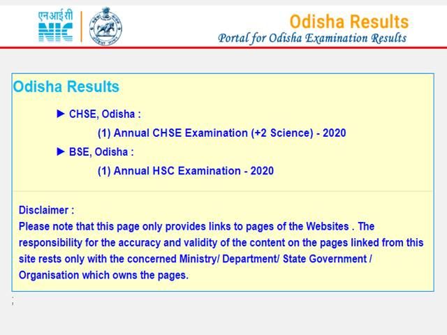 CHSE Odisha +2 Science Result 2020