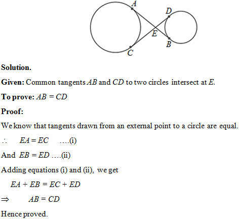 Class 10 Maths NCERT Exemplar, Circles: exercise 9 3 (6-10)