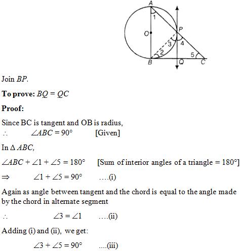 NCERT Exemplar for class 10 Maths, Circles: Exercise 9 4