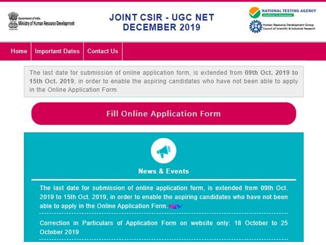 CSIR-UGC NET December 2019