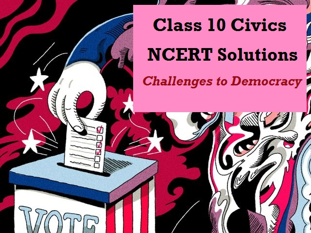 NCERT Solutions for Class 10 Social Science Civics Chapter 8
