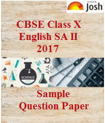 cbse class 10 english sample paper, class 10 english model paper, class 10 sample papers 2017