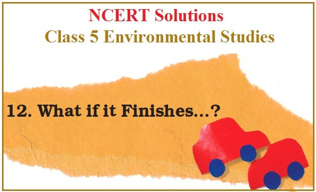 NCERT Solutions for Class 5 EVS Chapter 12–What If It Finishes…?