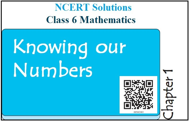NCERT Solutions for Class 6 Maths Chapter 1 - Knowing Our Numbers