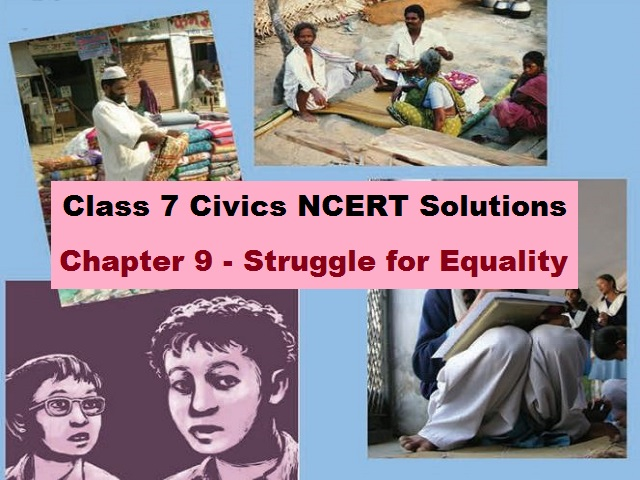 NCERT Solutions for Class 7 Social Science Civics Chapter 9 - Struggle for Equality