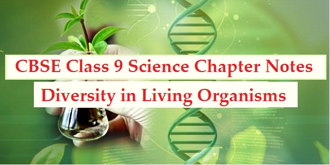 CBSE Class 9 Science Diversity in Living Organisms Chapter notes Part I