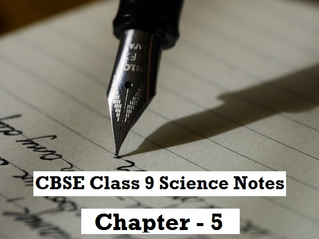 CBSE Class 9 Science Notes Chapter 5 The Fundamental Unit of Life