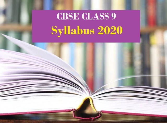 CBSE Class 9 Syllabus 2019-2020