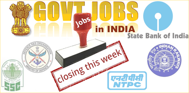 15000+ Govt. Jobs Closing This Week