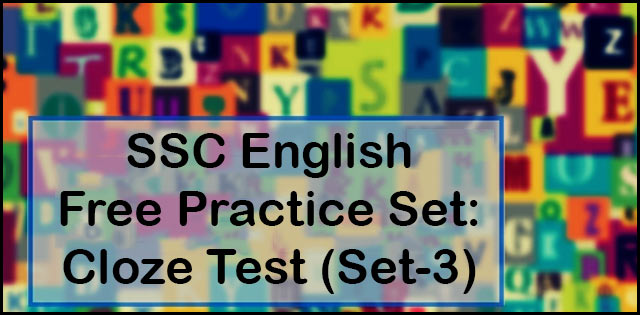 SSC English practice set