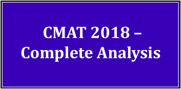 CMAT 2019 – Complete Analysis