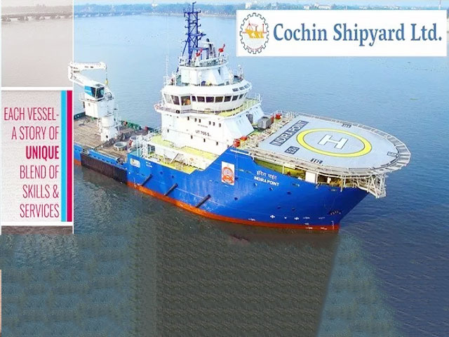 Cochin Shipyard Limited (CSL) Deputy General Manager (Finance) E6 grade Posts 2019