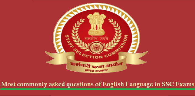 SSC English questions