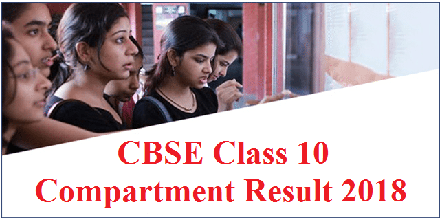 CBSE Class 10 Compartment Result 2018