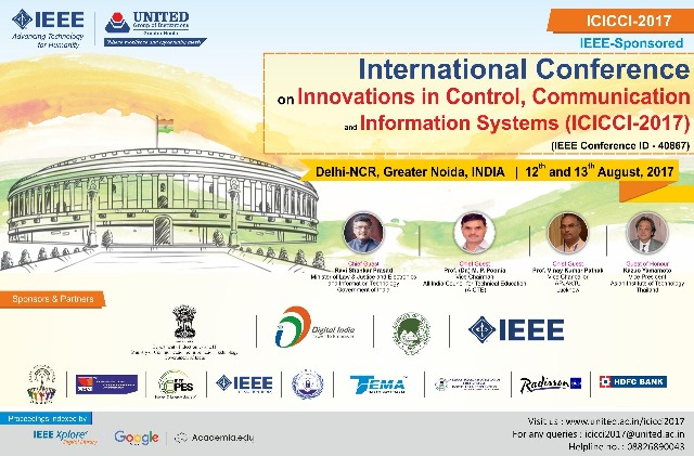 United Group of Institutions organizing International Conference ICICCI-2017