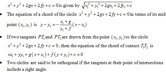Coordinate Geometry-I Formulae for quick revision for
