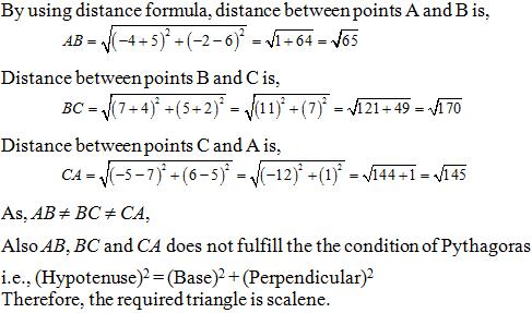 Class 10 Maths NCERT Exemplar Coordinate Geometry Exercise-7 3A