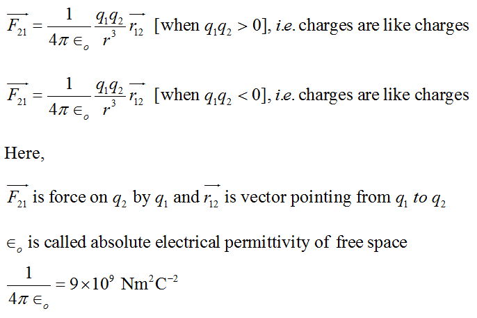 Cbse Class 12th Physics Notes Electric Charges And Fields Part I