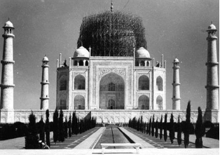Covered Taj mahal