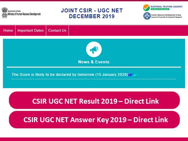 CISR NET Result 2019 Today