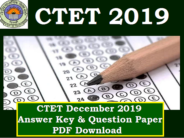 CTET Answer Key December 2019