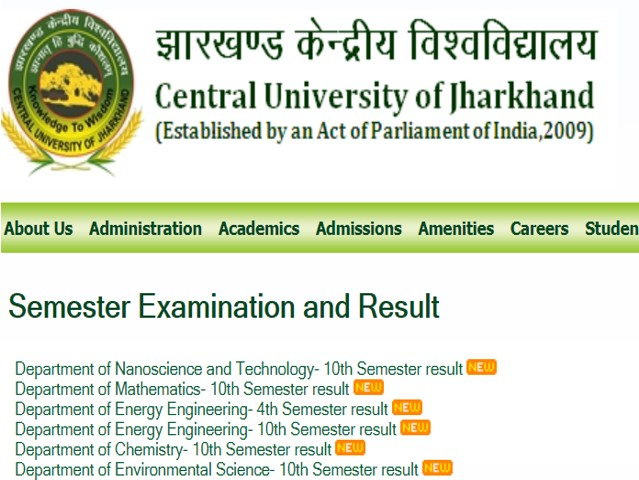 CUJ Result 2019: Results Declared for Semester exams, Check