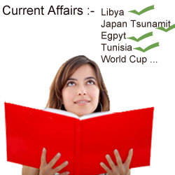 Important Topics for Current Affairs Preparation - March 2011
