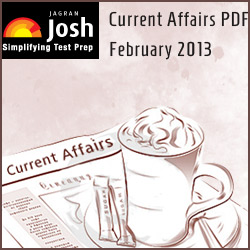 Jagran Josh Current Affairs PDF February 2013