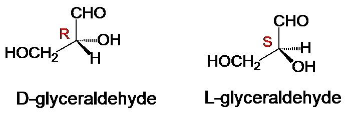 d, l glyceraldehyde