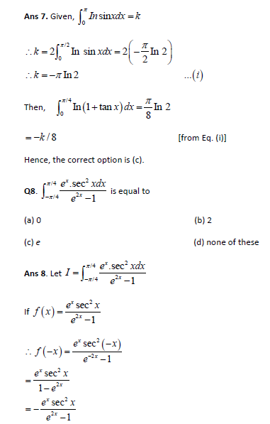 Definite integration practice paper