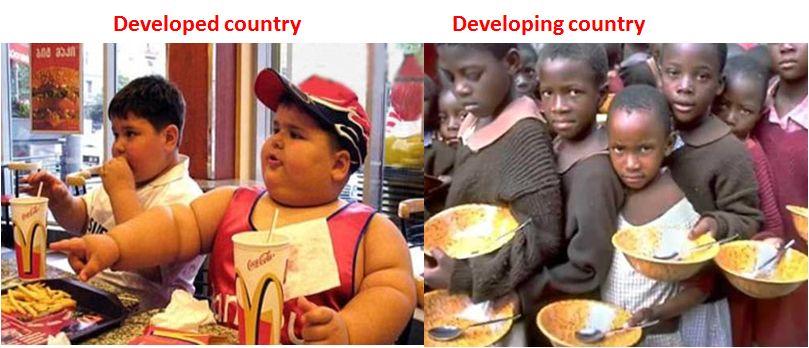 developed vs developing country children