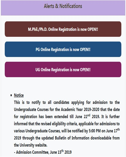 Du Admission Application Form 2016, The University Of Delhi Has Dedicated An Online Portal That Will Cater To The Registration Process For The Undergraduate Ug Programmes, Du Admission Application Form 2016